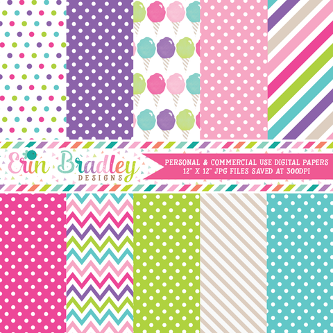 Cotton Candy Digital Paper Pack
