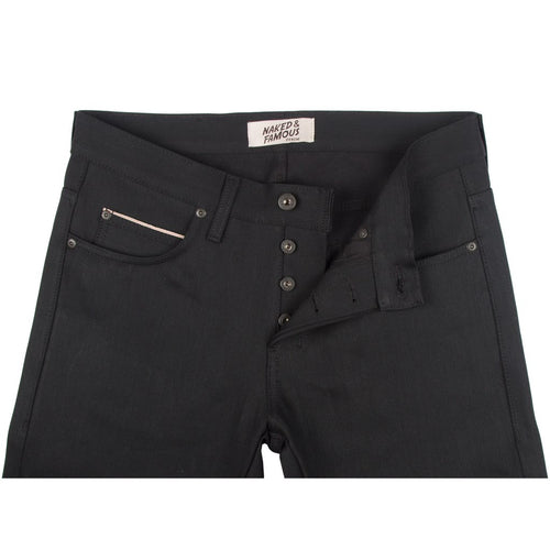 Solid Black Selvedge - Super Skinny Guy