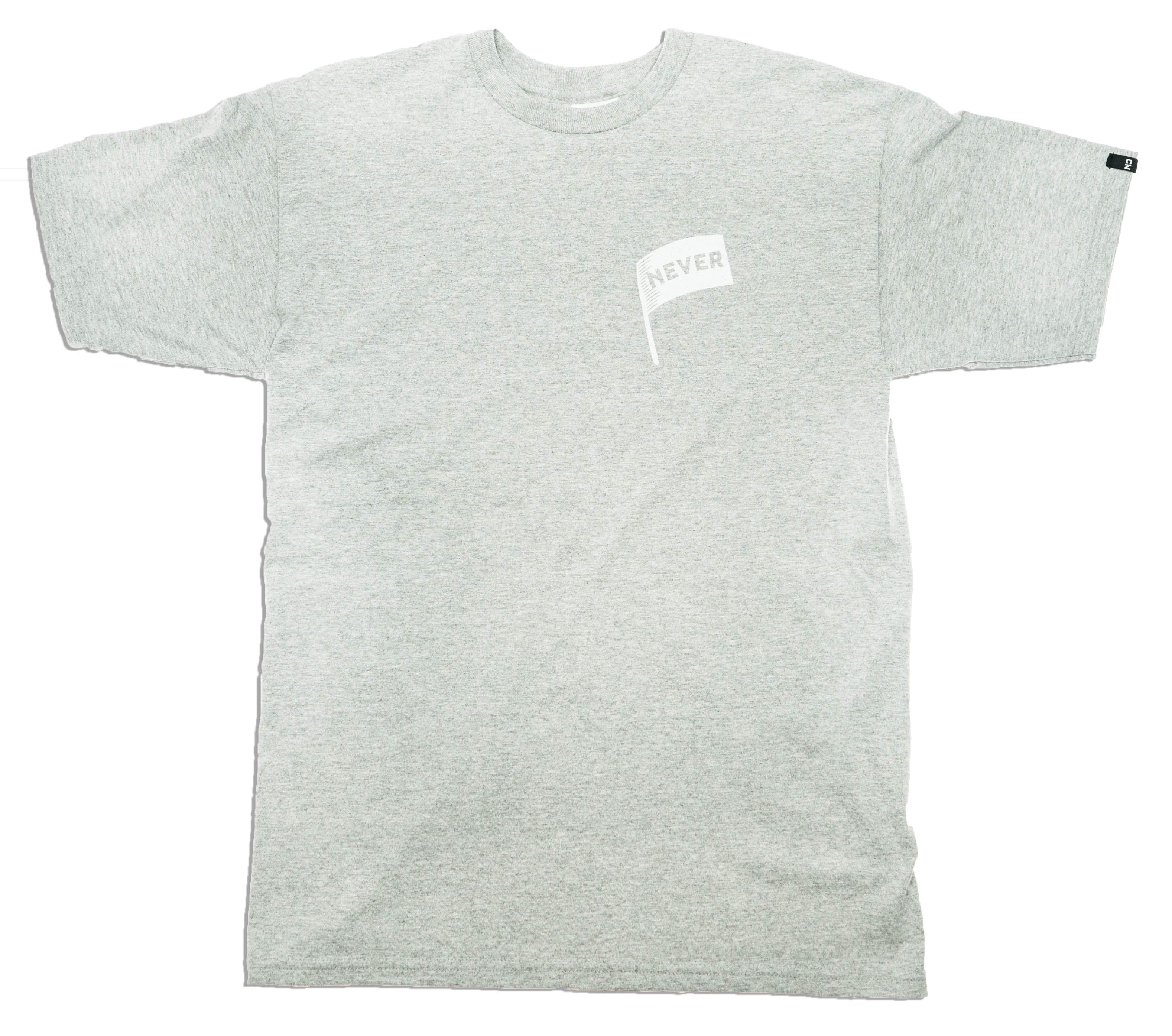 Never Surrender Faux Pocket - Heather Grey