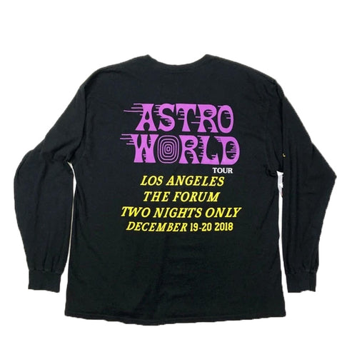 Astroworld LA Forum LS Tee - Black