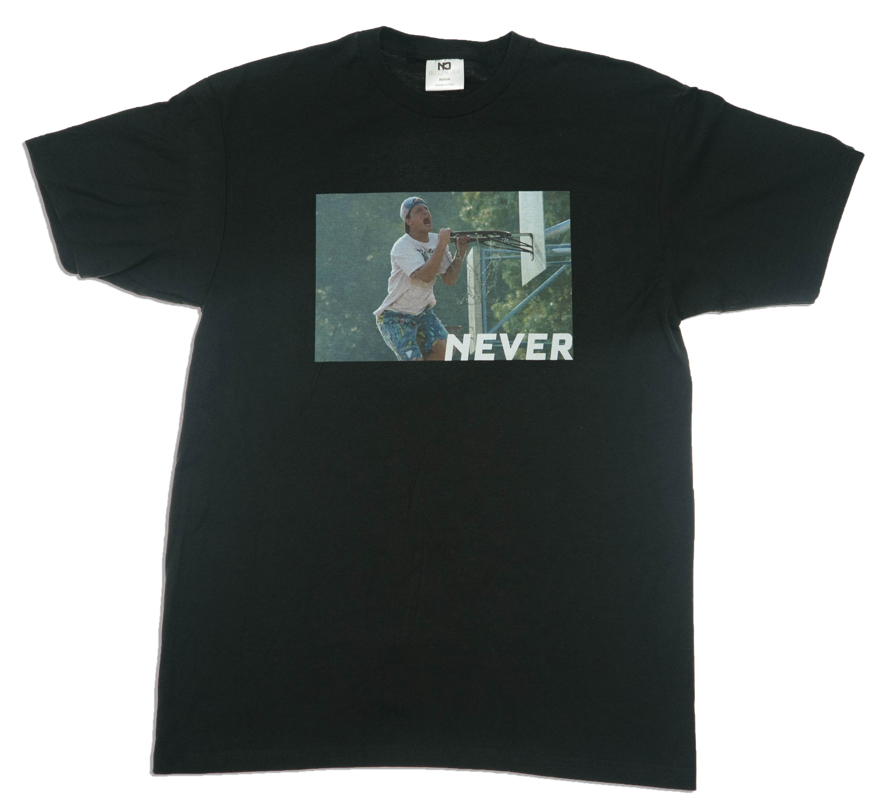 NEVER CAN'T JUMP TEE - BLACK