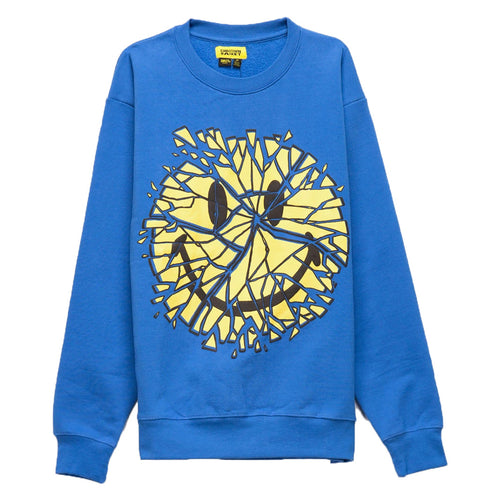 Smiley Glass Crewneck - Blue
