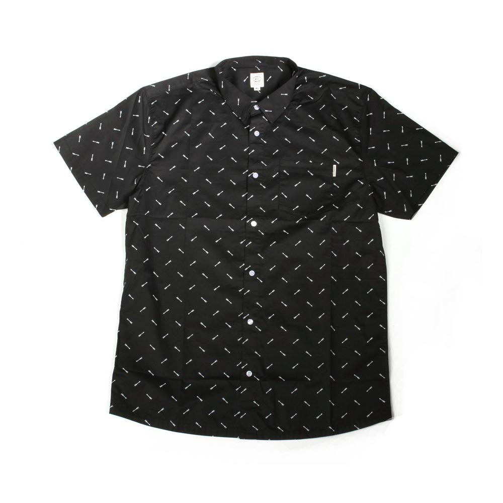 WESTWORLD S/S WOVEN SHIRT - BLACK