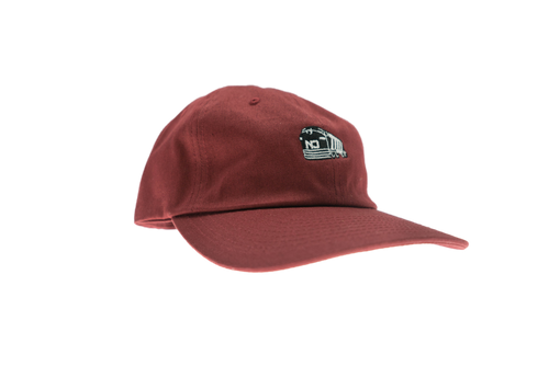 Mini Train Dad Hat - Pale Maroon