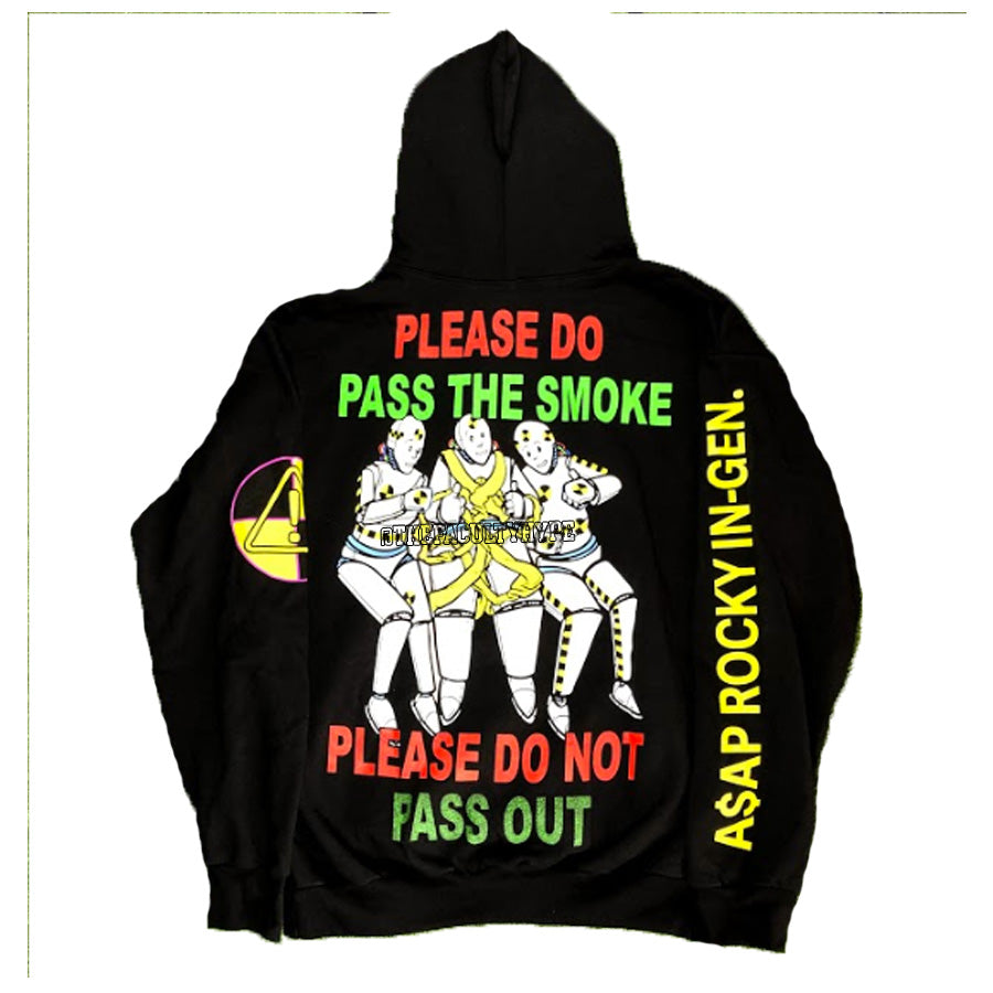 PASS THE SMOKE HOODIE - Black