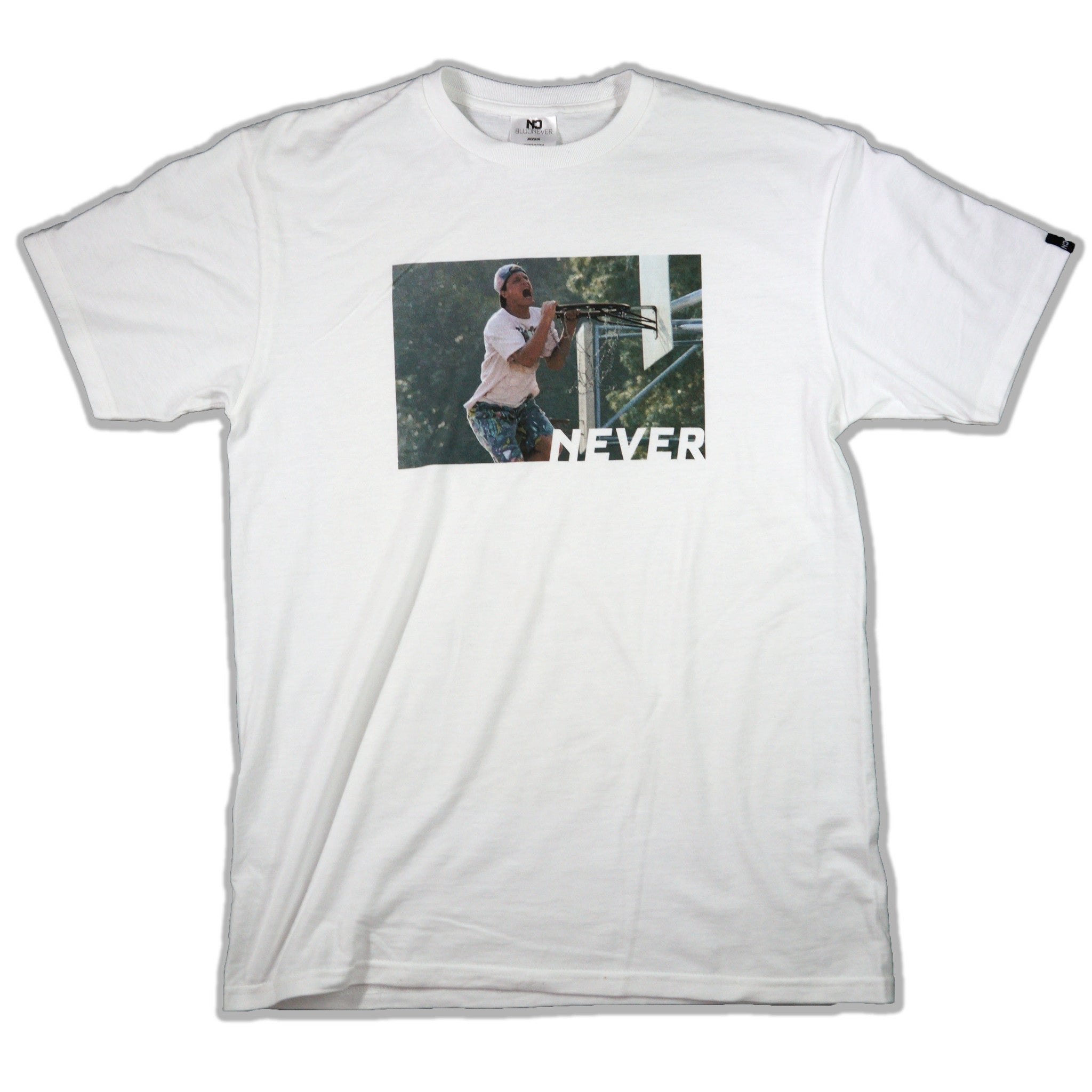 Never Can't Jump Tee - White