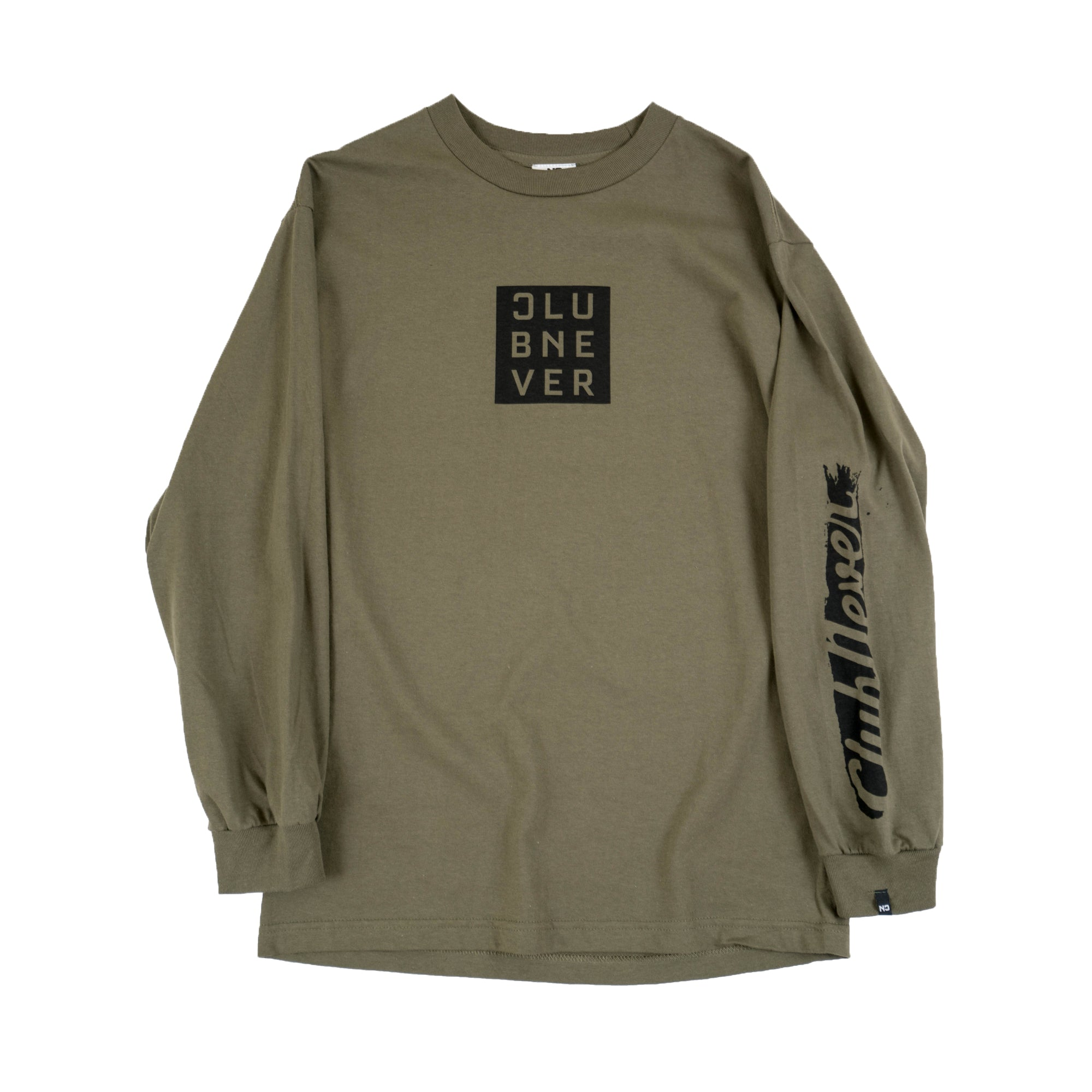 Box Stroke LS Tee - Military Green