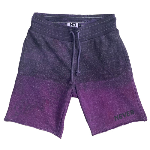 Overdyed Terry Shorts - Purple Haze