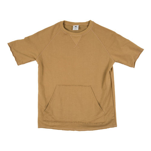Distressed French Terry SS Top - Sand