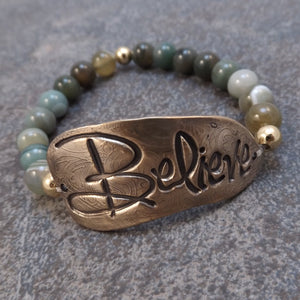 Believe -  Stretch Bracelet