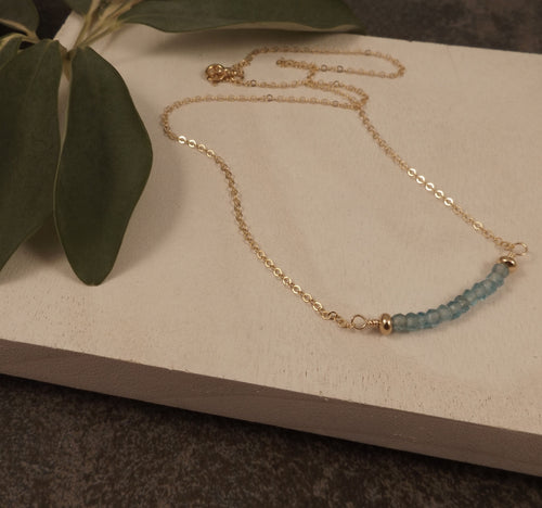 Bijoux - Apatite and Gold Necklace