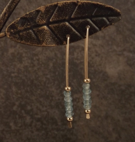 Bijoux - Apatite and Gold Earrings