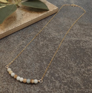 Bijoux - Amazonite and Gold Necklace
