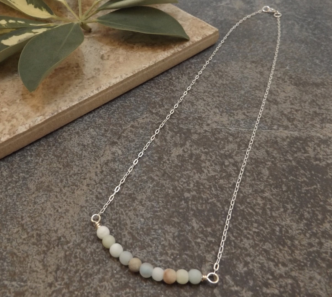 Bijoux - Amazonite and Silver Necklace