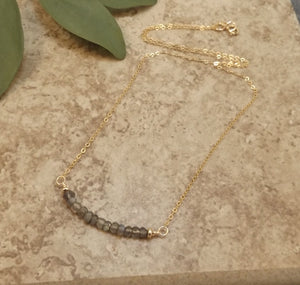 Bijoux - Labradorite and Gold Necklace
