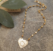 Load image into Gallery viewer, Brynn - Mandala Heart Necklace