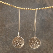 Load image into Gallery viewer, Brynn - Silver Lotus Earrings
