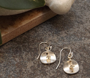 Caitlyn - Silver and Gold Earrings