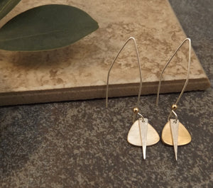 Caitlyn - Gold and Silver Earrings
