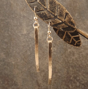 Caitlyn - Gold Bar Earrings