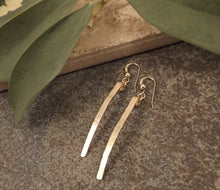 Load image into Gallery viewer, Caitlyn - Gold Bar Earrings