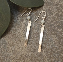 Load image into Gallery viewer, Caitlyn - Silver and Amazonite Earrings