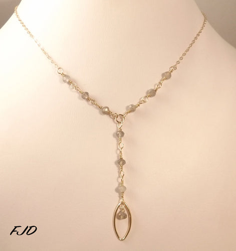 Bijoux - Gold Rosary Necklace