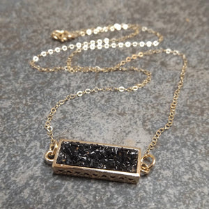 Bijoux - Druzy and Gold Necklace