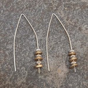 Abigail - Gold and Silver Earrings