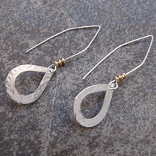 Load image into Gallery viewer, Abigail - Silver Teardrop Earrings