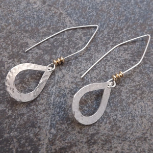 Abigail - Silver Teardrop Earrings
