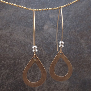 Abigail - Gold Teardrop Earrings