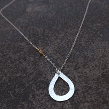 Load image into Gallery viewer, Abigail - Silver Teardrop Necklace