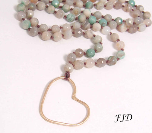 Aspen - Long Heart Necklace