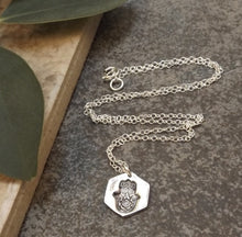 Load image into Gallery viewer, Silver Hamsa Hand Necklace