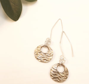 Jenni - Silver and Gold Earrings