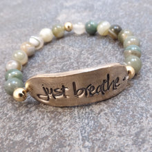 Load image into Gallery viewer, Just Breathe  Stretch Bracelet