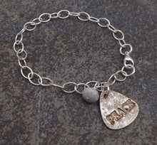 Load image into Gallery viewer, Pax  -  Peace Silver Bracelet