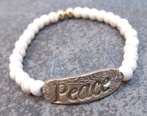 Inspiration Word Bracelet - Peace