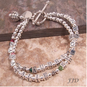 Mother's Name and Birthstone Bracelet