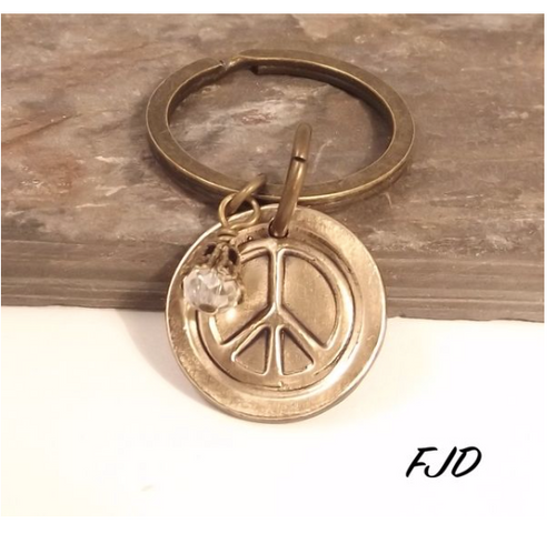 Peace Key Chain