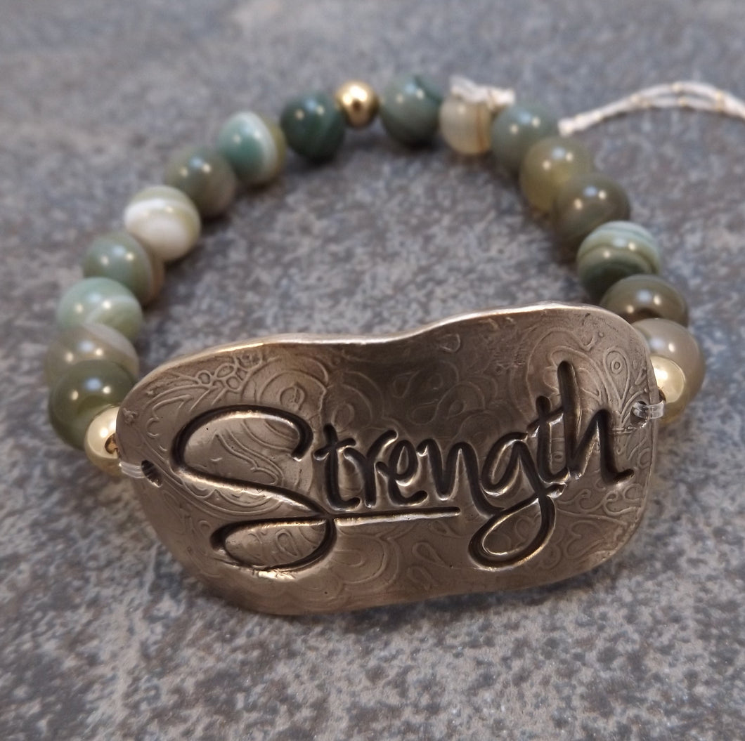 Strength-  Stretch Bracelet