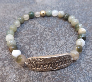 Inspiration Word Bracelet -Strength