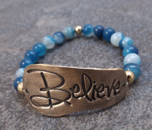 Load image into Gallery viewer, Believe -  Stretch Bracelet