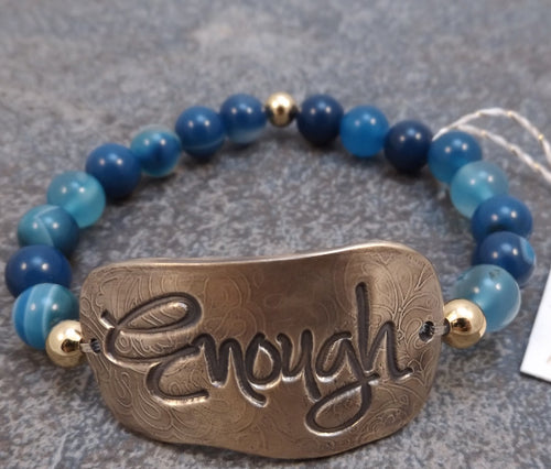 Enough -  Stretch Bracelet