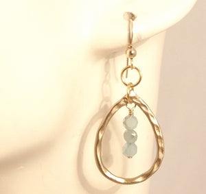 Christal - Hammered Bronze and Gold Earrings