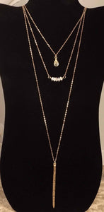 Gemma - Gold Three Strand Necklace