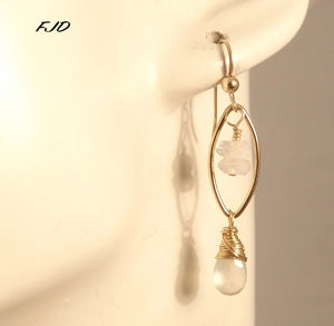 Gemma - Gold and Gemstone Earrings