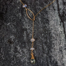 Load image into Gallery viewer, Gemma - Gold and Gemstone Lariat Necklace