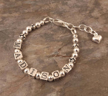 Load image into Gallery viewer, Baby Name Bracelet Sterling Silver